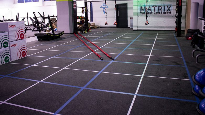 safety zone gym floor markings